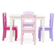 Kids Forever Wood Table and Four Chairs Set