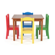 Kids Highlight Wood Table and Four Chairs Set