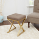 Lexi Gold X-Base Square Vanity Bench