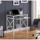 Pennie Metal/Glass Small-Space Desk