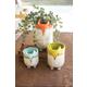 Ceramic Fox Planters (Set of 3)
