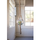 Woven Jute Rope Macrame with Glass Candle Holder