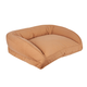 Memory Foam Large Quilted Microfiber Bolster Pet Bed
