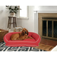 Poly Fill Large Classic Canvas Bolster Pet Bed with Contrast Cording