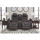 Cave Warrior Power Reclining Loveseat with Console
