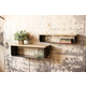 Metal And Wood Shelves (Set of 2)