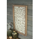 Rectangle Wood Framed Pressed Metal Wall Decor