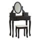 Huey Vineyard Vanity and Mirror with Stool