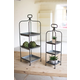 Metal Display Stands with Galvanized Trays (Set of 2)