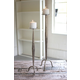 Antique Finish Nickel Candle Stands (Set of 2)