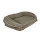 Poly Fill Medium Classic Canvas Bolster Pet Bed with Contrast Cording