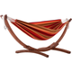 Patio Double Sunbrella® Hammock with Solid Pine Arc Stand