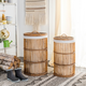 Rattan Storage Hampers With Liner
