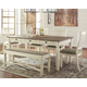Bolanburg Dining Table and 4 Chairs and Bench