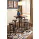 Challiman Counter Height Dining Table and 4 Barstools