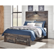 Drystan Full Panel Bed with 2-Storage