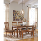 Berringer Dining Table and 4 Chairs and Bench