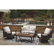 Paradise Trail Outdoor Loveseat and 2 Chairs with Coffee Table