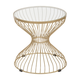 Patio Gold Finish Side Table