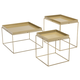 Patio Gold Finish Nesting Table (Set of 3)