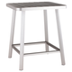 Patio Brushed Aluminum Bar Table