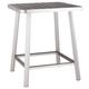 Patio Brushed Aluminum Bar Table