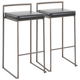 Fuji Industrial Stackable Barstool (Set of 2)