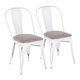 Oregon Industrial Upholstered Chair (Set of 2)