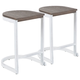 Industrial Demi Counter Stool (Set of 2)