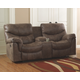 Alzena Power Reclining Loveseat with Console