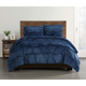 Pleated Velvet Full/Queen Duvet Set