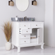 Gray Marble Bathroom Vanity and Sink
