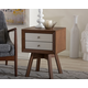 Warwick Two-tone Walnut and White Accent Table and Nightstand