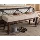 Elia Light Beige Fabric Button-Tufted Bench