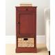 Wicker Basket Tall Storage Cabinet