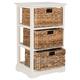 Three Tiered Basket Storage Shelf
