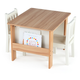 Kids Bookrack Table and Two Chairs Set