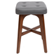 Cameron Modern Wood Counter Stool with Square Cushion