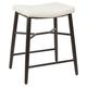 Harvey Saddle Upholstered Stationary Backless Counter Stool