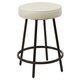 Louis Upholstered Round Backless Metal Counter Stool