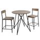 Trevi Metal Wood 3-Piece Pub Height Dining Set