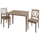 Verdana 3-Piece Drop Leaf Dining Set with Decorative Back Chairs