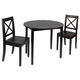 Warren 3-Piece Drop Leaf Dining Set with X-Back Chairs