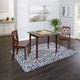 Verdana 3-Piece Drop Leaf Dining Set with Decorative Back Chairs