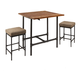 Austin Pipe Fitting Pub Height 3-Piece Dining Set