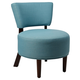 Carlisley Modern Armless Occasional Chair with Round Seat