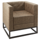 Chestey Square Upholstered Accent Chair with Metal Base