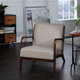 Gace Wood and Upholstered Mid Century Accent Chair