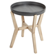 Lola Round Accent Table with Wood Frame