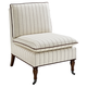 Reina Stripe Pillow Top Slipper Chair